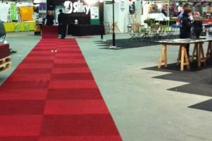 Röda mattan låg utrullad till vår monter. Kanske belöningen för att vi varit mässans trognaste utställare?